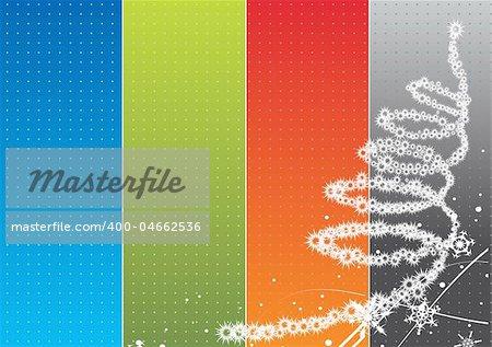 Christmas rainbow background. Vector illustration for design.
