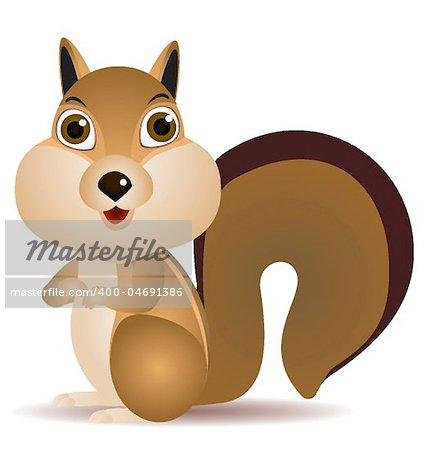 Vector illustration of squirrel cartoon