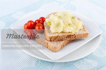 Wholewheat Healthy meatless vegetarian sandwich