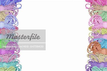 multicolor wool bobbins background