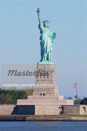 Statue of Liberty in New York City Manhattan Hudson River