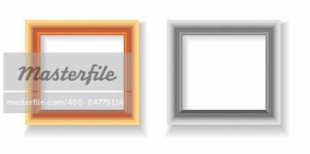 photo frame illustration isolated on white background
