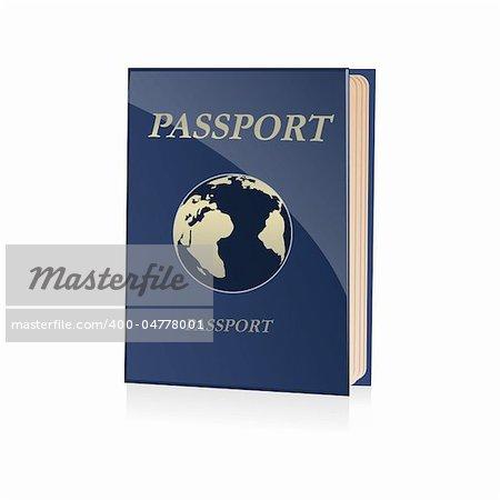 illustration of passport icon on white background