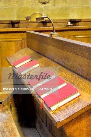 Choir chapel. Detail of hymnal books