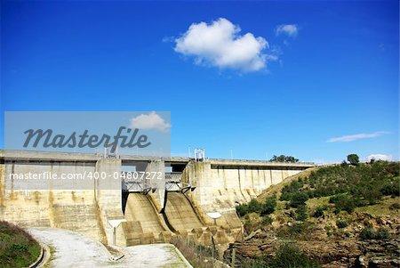 Wall of portuguese dam.