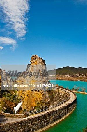 The Concrete Dam on the River Aragon, Spain