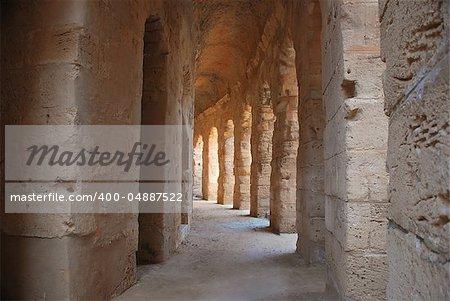 old vault in a dilapidated coliseumkolosseum