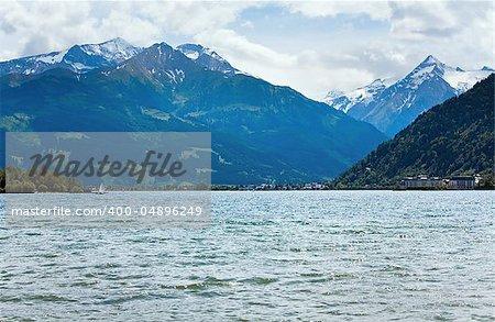 Beautiful summer Alpine  lake Zeller See view (Austria, Zell am See)