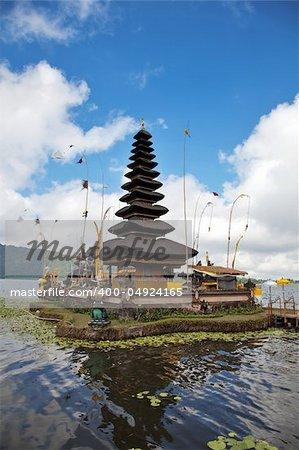 Pura Ulun Danu temple on lake, Bali Indonesia
