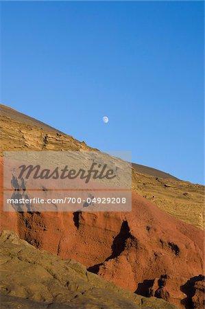 Rock Formationen, El Golfo, Landkreis Yaiza, Lanzarote, Kanarische Inseln, Spanien