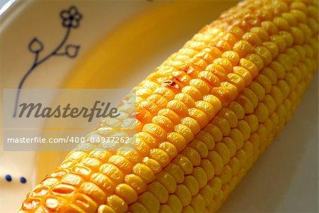 Plate of corn. Shallow DOF.