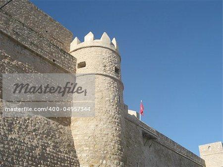 Hammamet Medina fortified walls, Tunisia