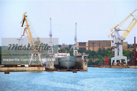 Ship in dry shipdock