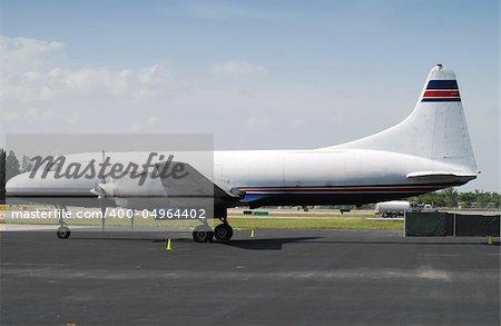 Restored freight plane awaiting cargo load