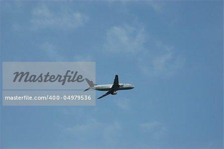 A passenger aircraft in flight