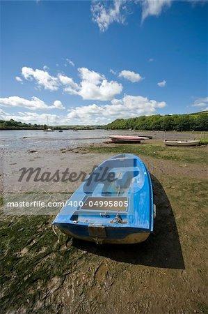 estuary of the river avon aveton gifford south hams devon england uk