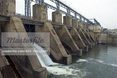 Hydroelectric pumped storage power plant on Dniester river, near Dubasari, Moldova.