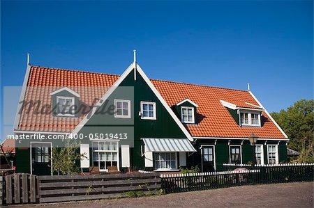 Wooden house on the island Marken, Holland