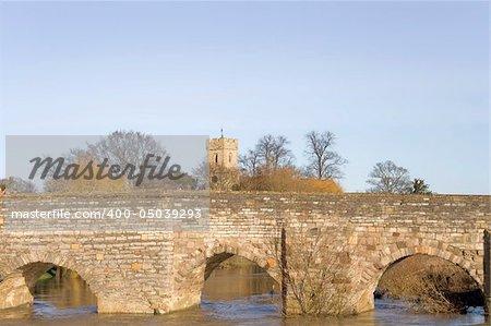 The medieval bridge over the river avon bidford on avon warwickshire the midlands england uk