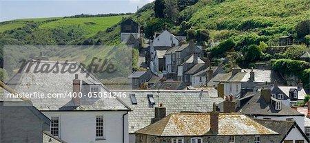 cottages port isaac cornwall england uk