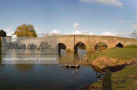 medieval bridge over the river avon bidford on avon warwickshire the midlands england uk