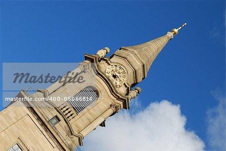 Clocktower of Ludvigsburg Kirche, south Germany