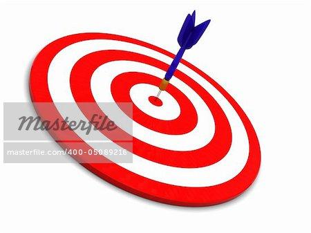 3d illustration of darts over white background