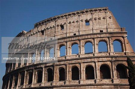 Details Colosseum Rome Italy Built by Vespacian