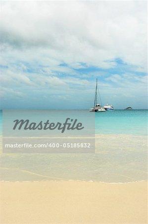 Beach Seychelles. Island Praslin. Anse Lazio.