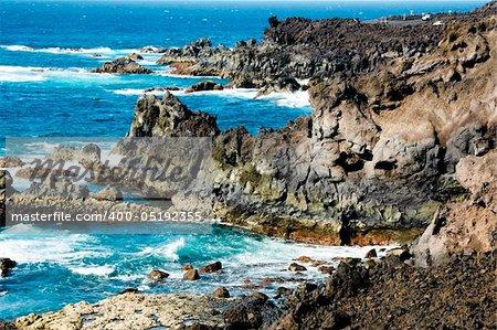 Los Hervideros, Lanzarote, in the Canary Islands, Spain