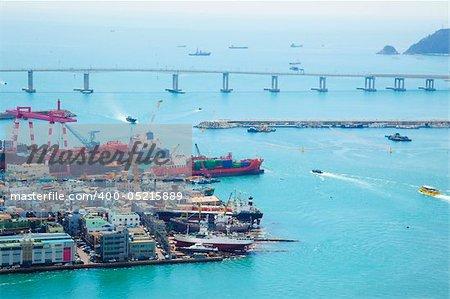 Harbor/ Cargo / Aerial View / Asia / South Korea