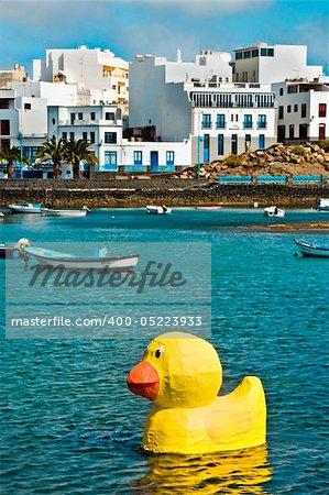 a view of Charco de San Gines, Arrecife, Lanzarote, Canary Islands