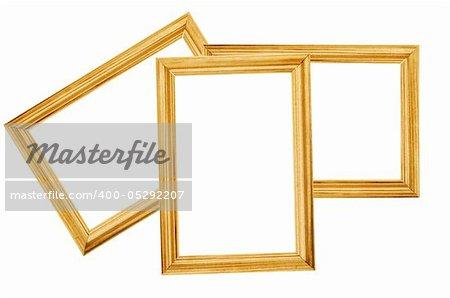 wooden frameworks isolated on white background