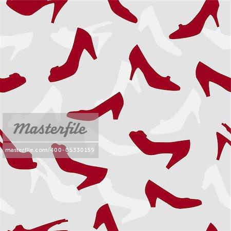 woman shoes seamless pattern illustration background
