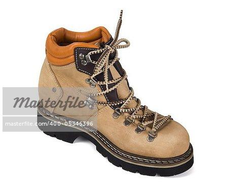 Trekking boot isolated on white background