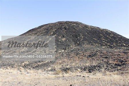 Cinder cone of Amboy Crater National Natural Landmark in California.