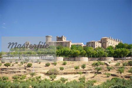 Oropesa castle at Toledo Castilla La Mancha in Spain