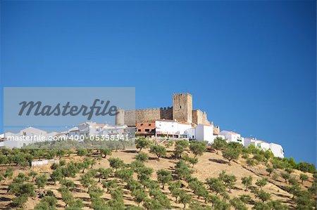 Segura de Leon castle at Badajoz Extremadura in Spain