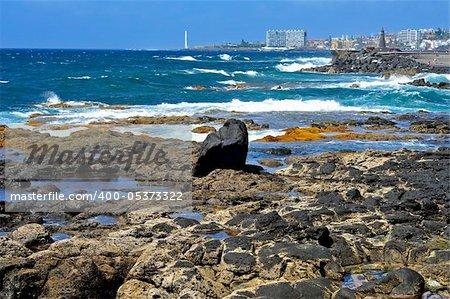 A view of Bajamar and Punta de Hidalgo coast in Tenerife, Canary Islands, Spain