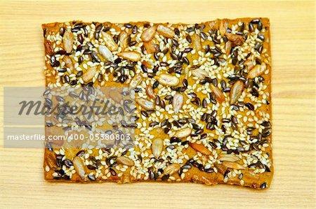 Close up shot of cereal seeds bar