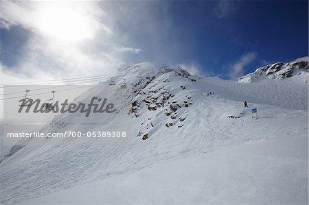 Remontées mécaniques et montagne, mont Whistler, Whistler, Colombie-Britannique, Canada