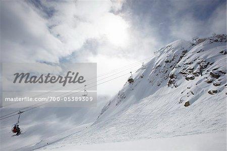 Remontées mécaniques sur le mont Whistler, Whistler, Colombie-Britannique, Canada
