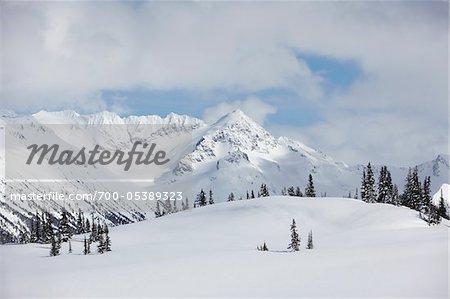 Vue du Mont MacBeth du mont Whistler, Whistler, Colombie-Britannique, Canada