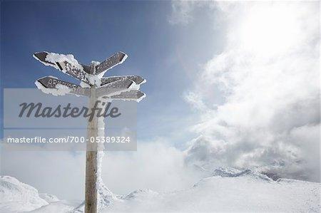 Sign Post, Whistler Mountain, Whistler, British Columbia, Canada
