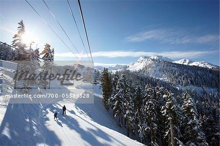 Remontées mécaniques, mont Whistler, Whistler, Colombie-Britannique, Canada