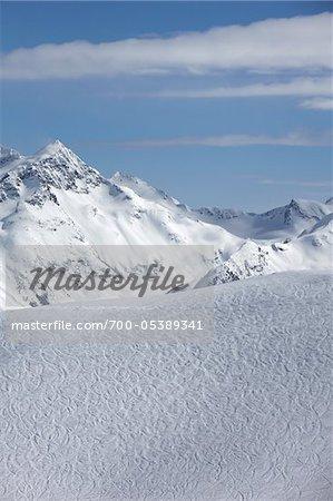 Gebirge wie gesehen von Whistler Mountain, Whistler, Britisch-Kolumbien, Kanada