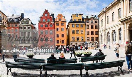 La place Stortorget, Gamla Stan, Stockholm, Suède
