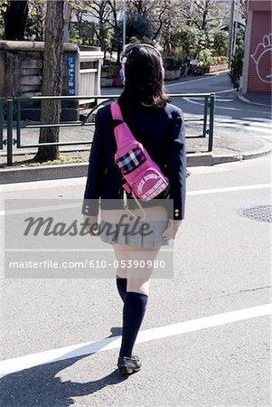 Japan, Tokyo, schoolgirls