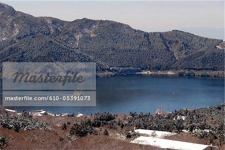 Japon, Hakone, lac Ashi, galion rive