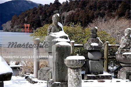 Japan, Hakone, lake Ashi, Hakone Gongen temple